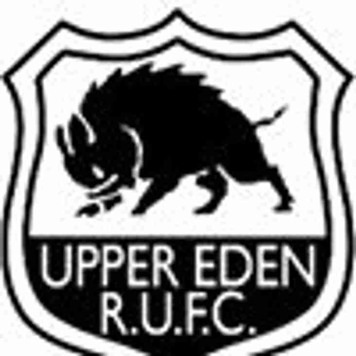 Sunderland  v Upper Eden this Saturday at 3pm!