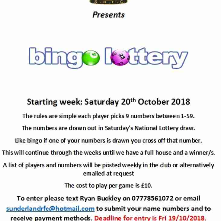 Last day to get your numbers in!!! Win big with SRFC Bingo Lottery!