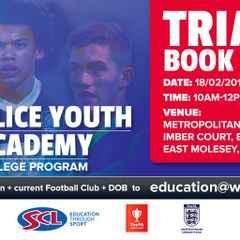 Met Police FC - New Academy Trials