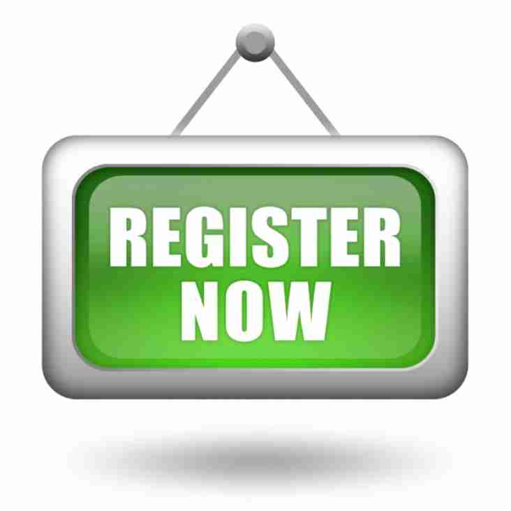 PLEASE COMPLETE YOUR REGISTRATION THIS SUNDAY 8TH