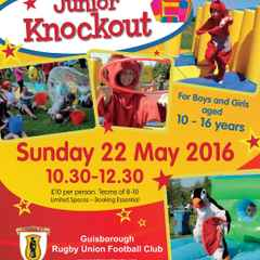 Its a Junior Knockout Fundraiser Sunday 22nd May