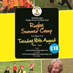 Guisborough RUFC Children's Summer Rugby Camp Tuesday 16 August 2016
