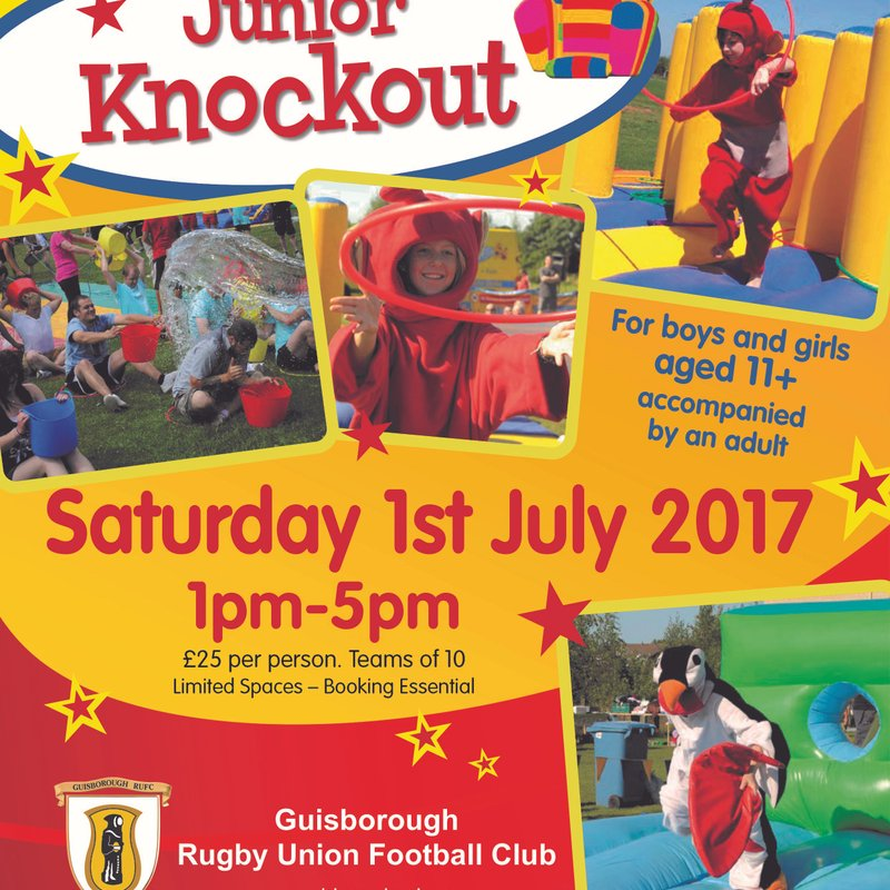 Junior Its a Knockout (Ages 11+)  Returns To GRUFC ,Sat 1st July-Join Now