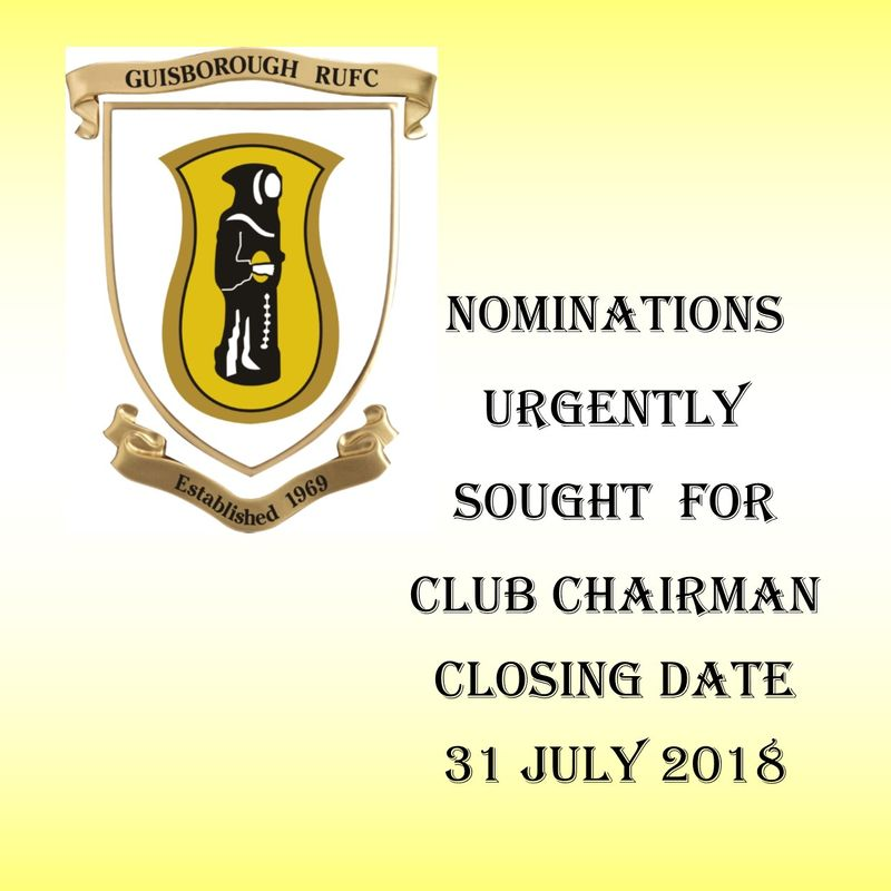 Nominations Sought for Guisborough RUFC Club Chairman