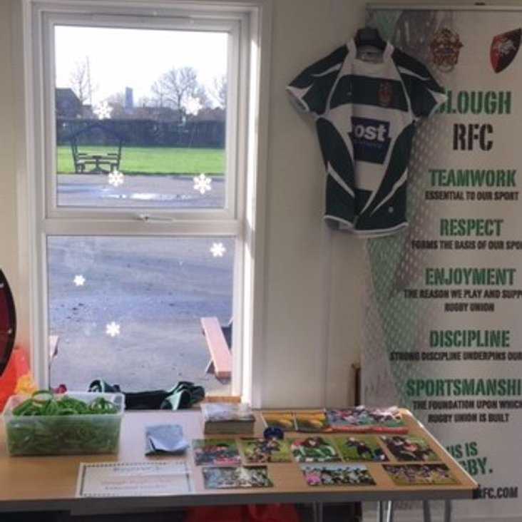 Slough RFC at Holy Family Catholic School Christmas Fair<