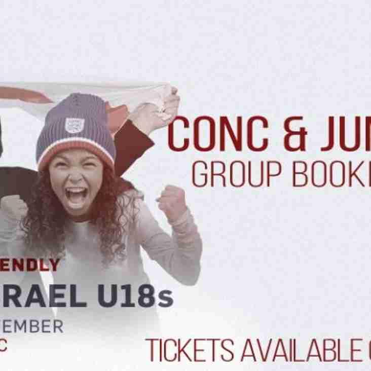 England U18 V Israel U18