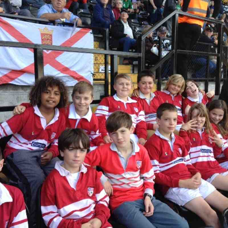 Flag Bearers at Nott'm Rugby vs Jersey