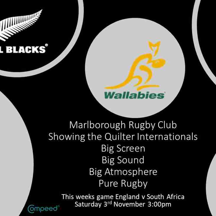 All England Quilter Internationals shown live at clubhouse