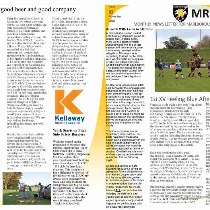 MRFC Times November edition