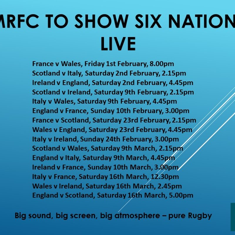 The countdown to the Six nations has begun