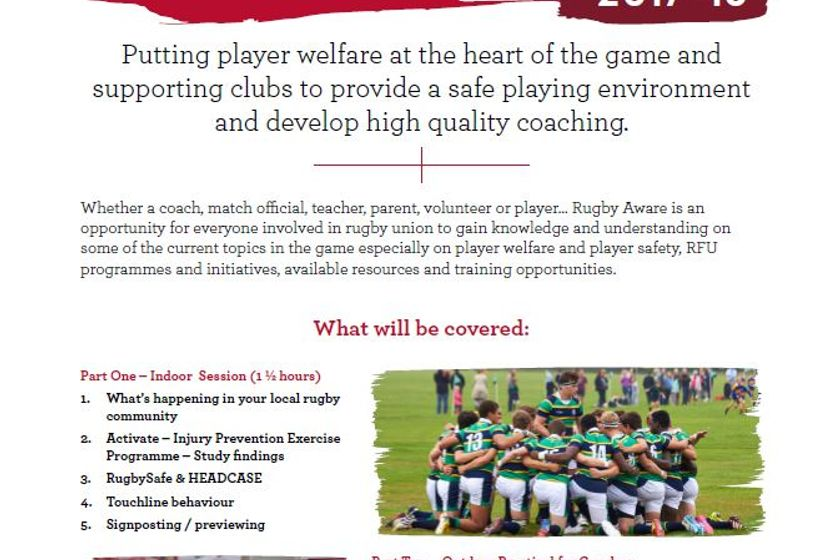 Rugby Aware and Activate