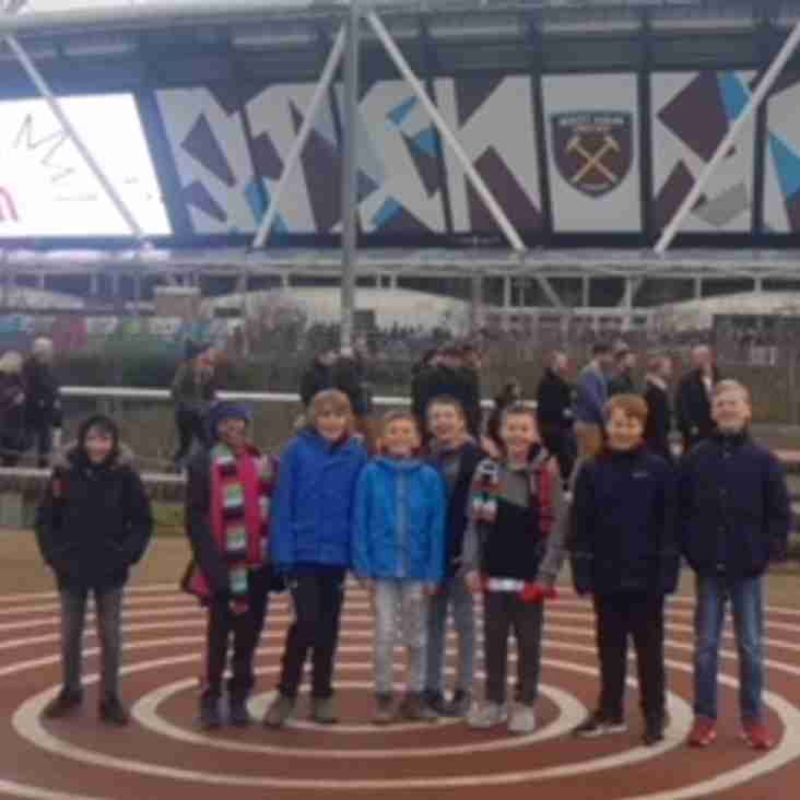 U11's at Olympic Stadium for Sarries v Quins
