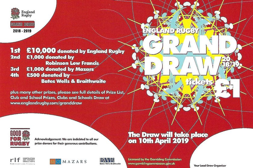 RFU Grand Draw - Tickets available now!