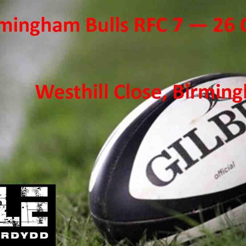 Birmingham Bulls RFC v Cardiff Lions RFC 27 Sept 2014