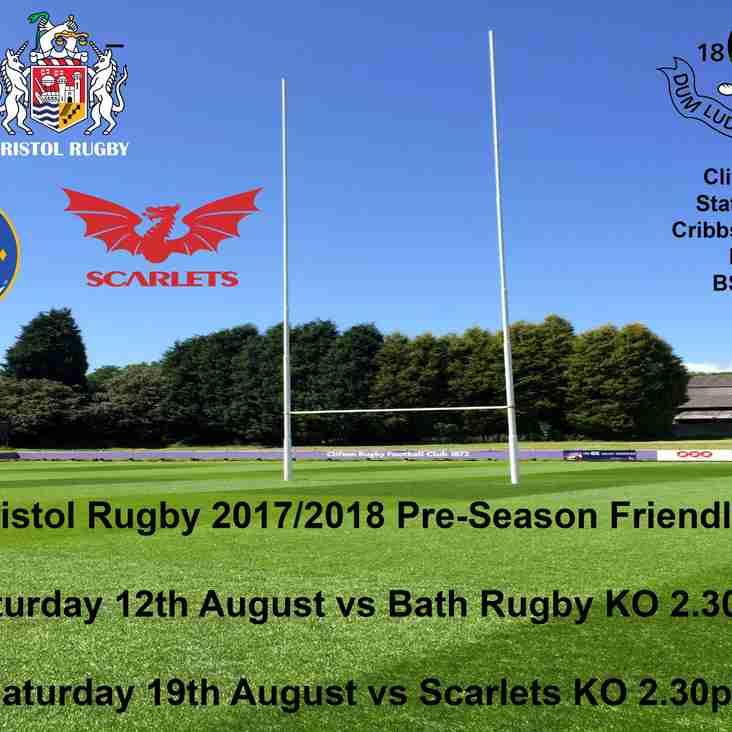 Bristol Rugby Pre-Season Friendlies Come To Clifton