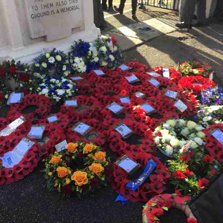 Clifton Rugby represented at Memorial Ground service
