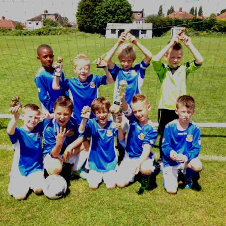 U7 Blues hit 5 to come out on top again in local derby.
