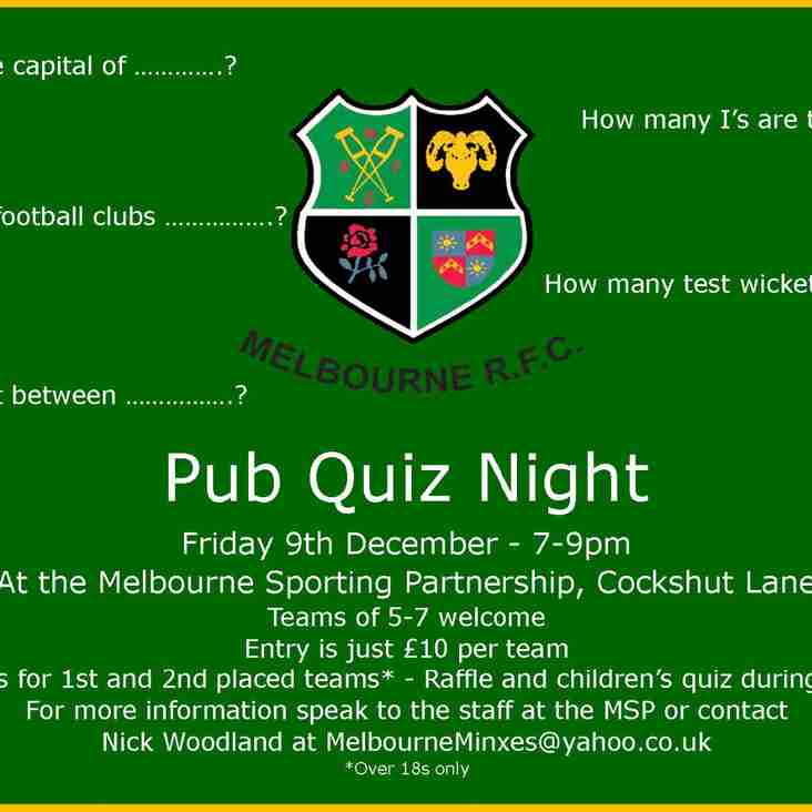 MRFC to host Pub Quiz