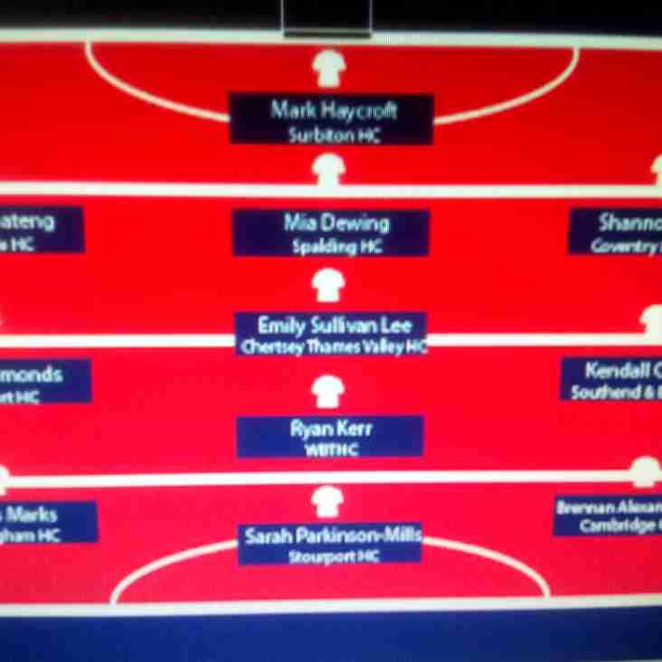 "New Club Member Ryan Kerr makes England Hockey ""Team of the Week"""