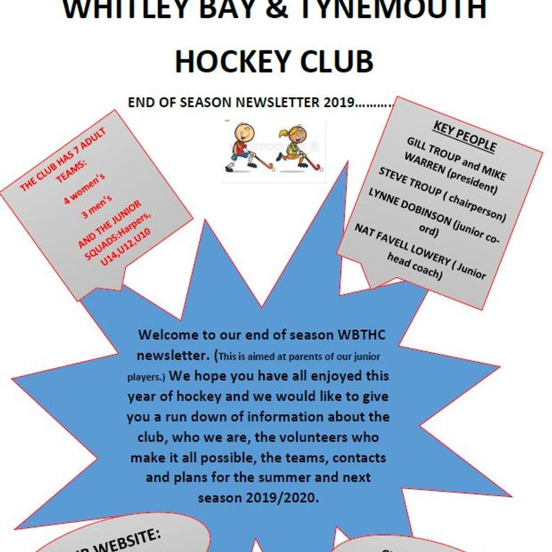 Junior End of Season Newsletter