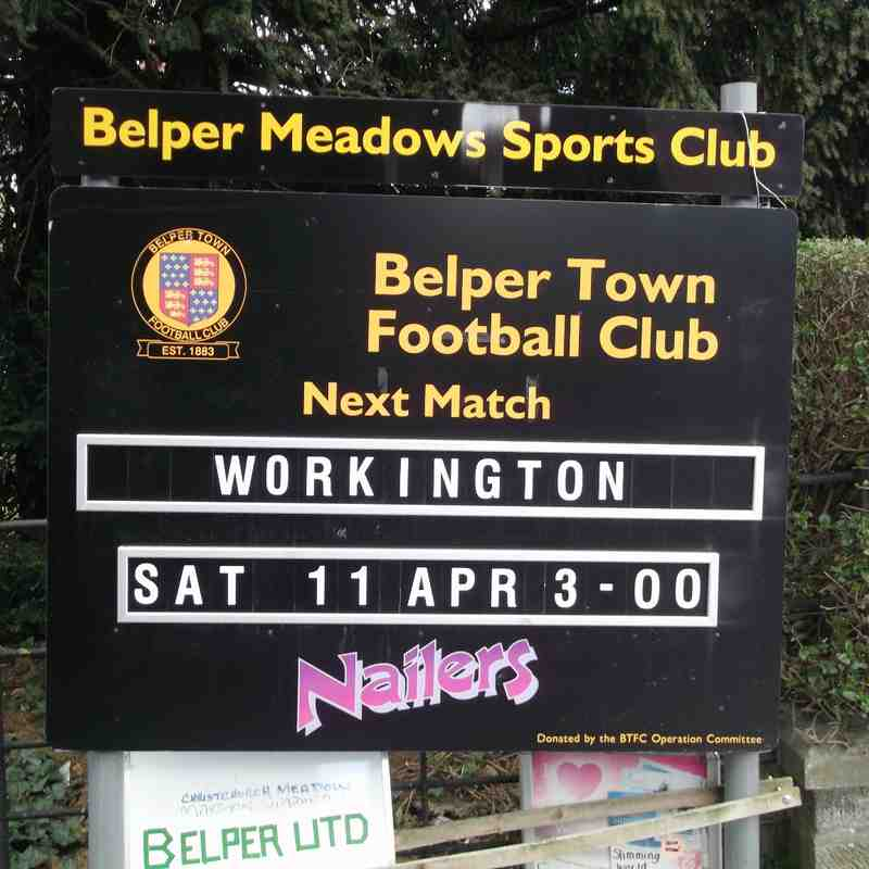 Belper Town v. Workington AFC - Sat 11 April 2015