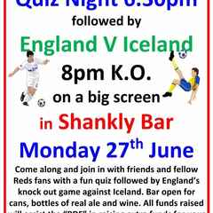 England v. Iceland in the Shankly Bar