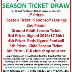 Grand Season Ticket Draw