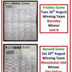 Football card winners
