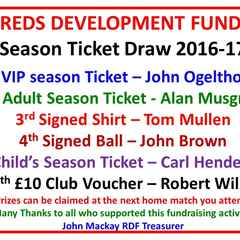 Season ticket draw results