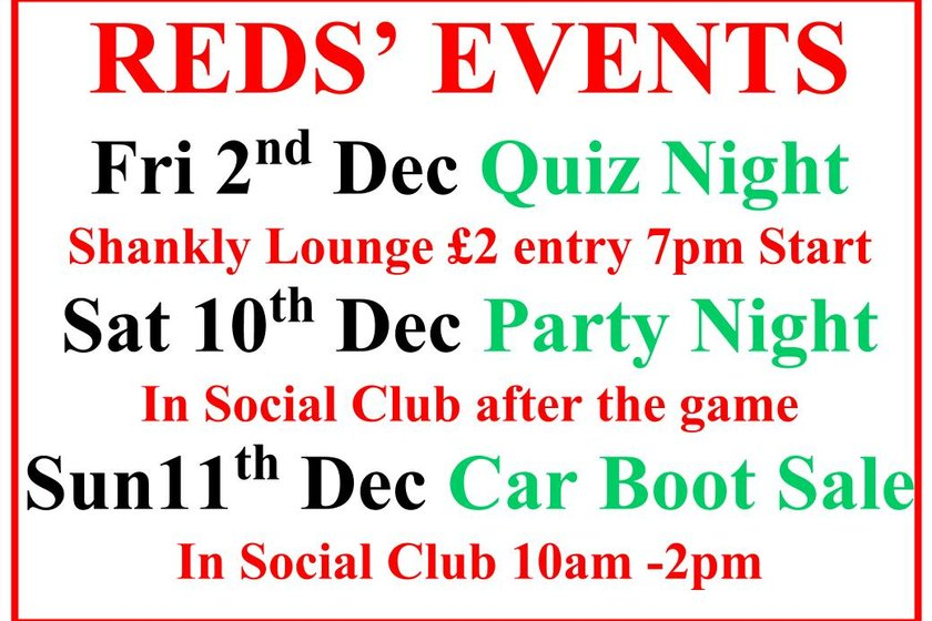 Reds' events