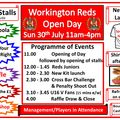 Reds Open Day - Sun 30th July