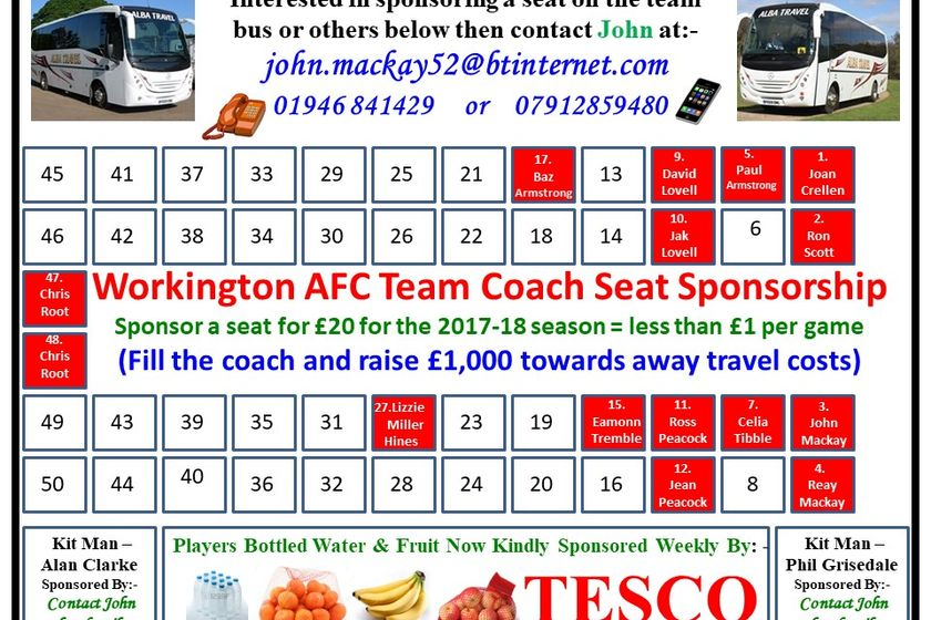 Team bus and Pitch sponsorship
