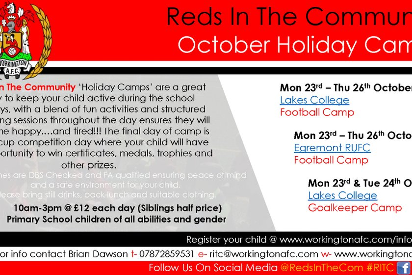 Reds In The Community - October Holiday Camps