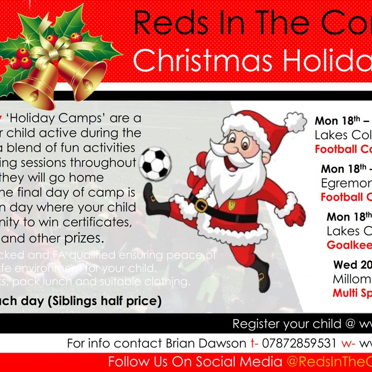 Reds In The Community Christmas Holiday Camps<