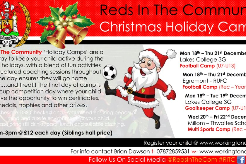Reds In The Community Christmas Holiday Camps