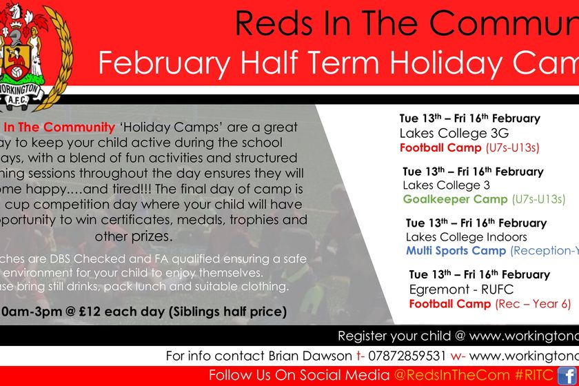February Half Term Holiday Camps