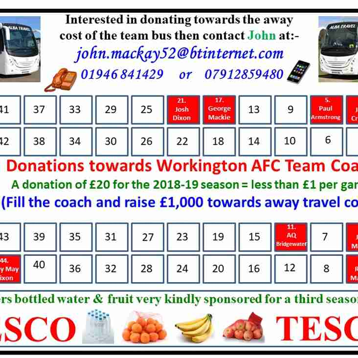 Team bus and Pitch donations