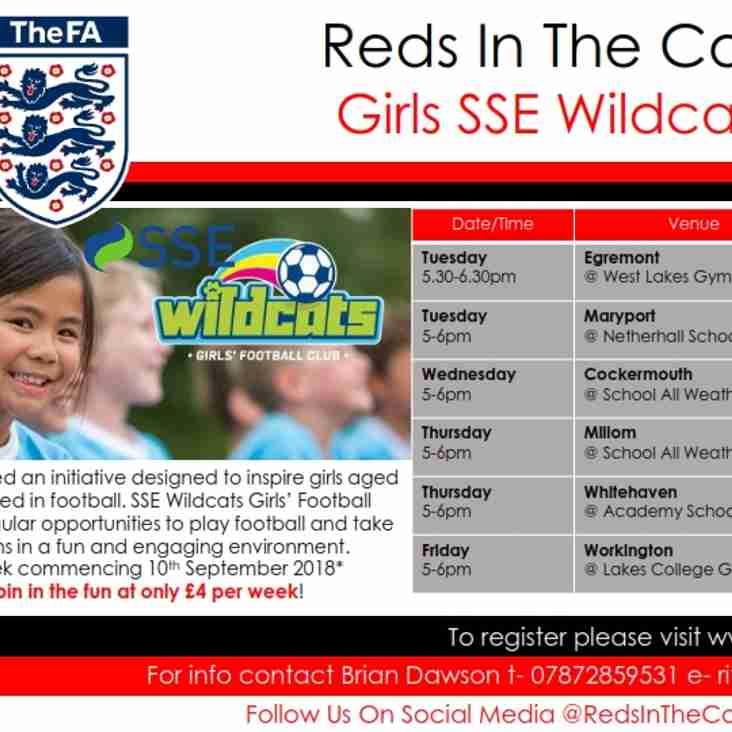 SSE Wildcats Girls' Football Centres