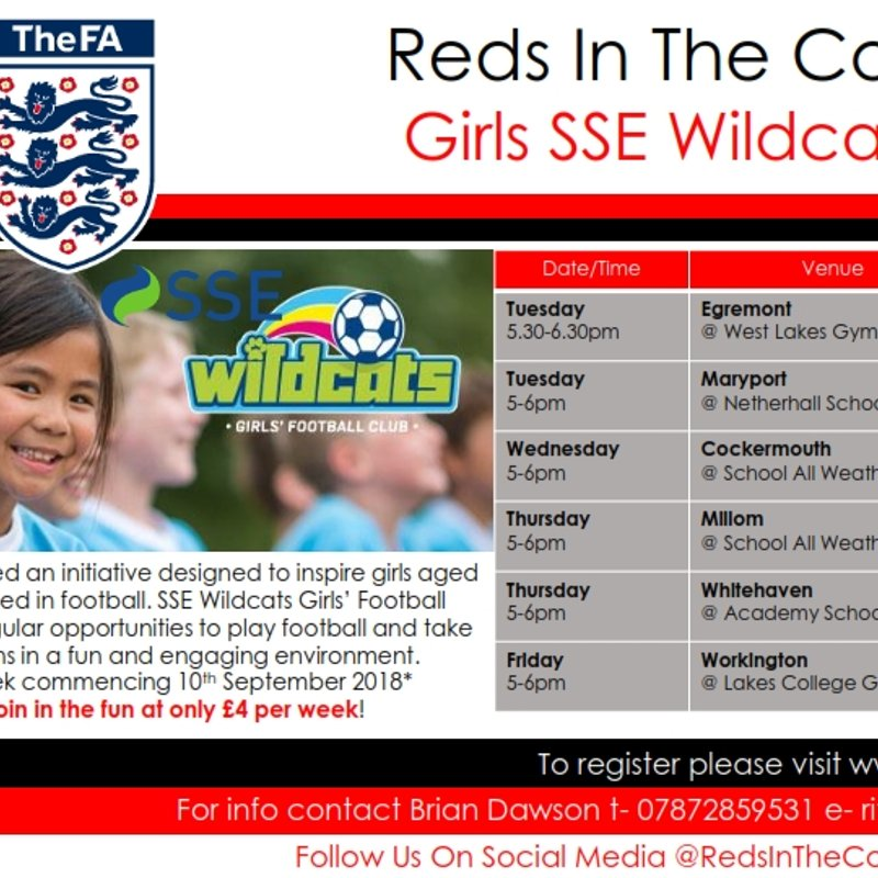 SSE Wildcats Girls' Football Centres