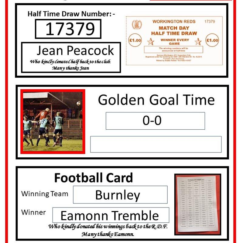 Matchday Winning Numbers