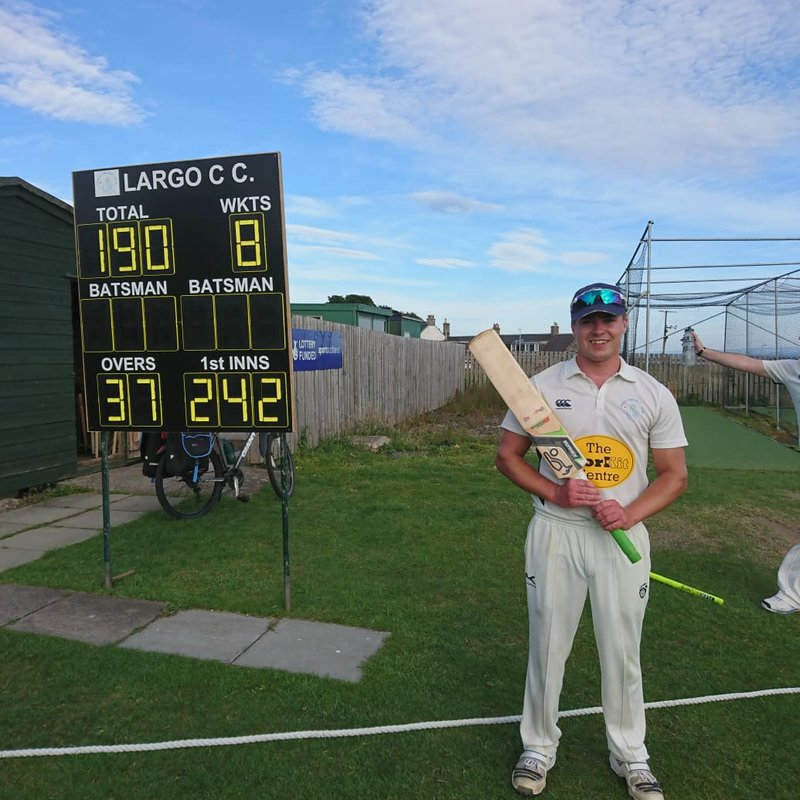 Century from Hughes brings victory for Largo - 1sts Report vs Carlton 3s 23/6