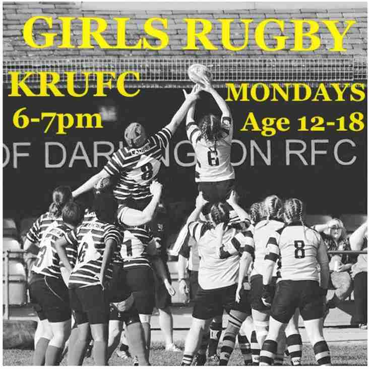 Girls rugby tonight at 6pm