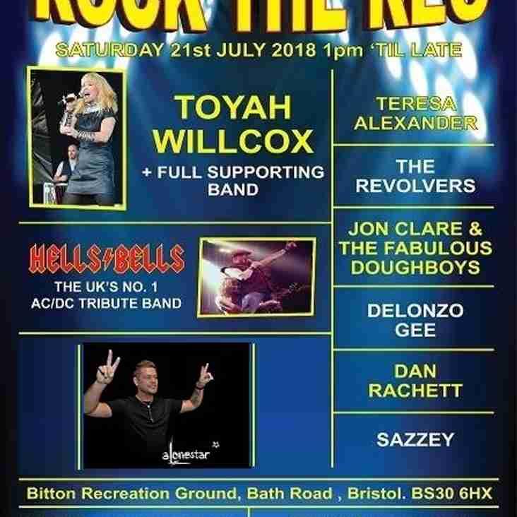 Rock the Rec : Saturday 21st July 2018 - Headlining Toyah Willcox