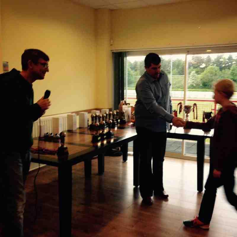 Ludlow Town juniors Awards night 2015