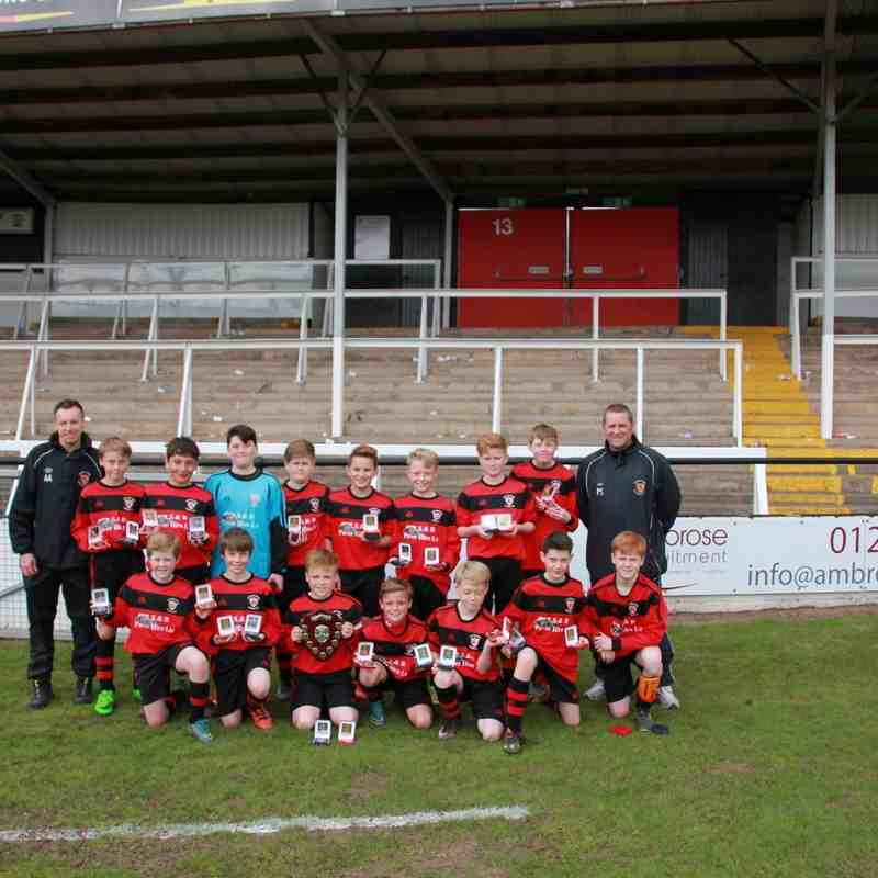 Ludlow Town U12 - HJFL League winners 2016
