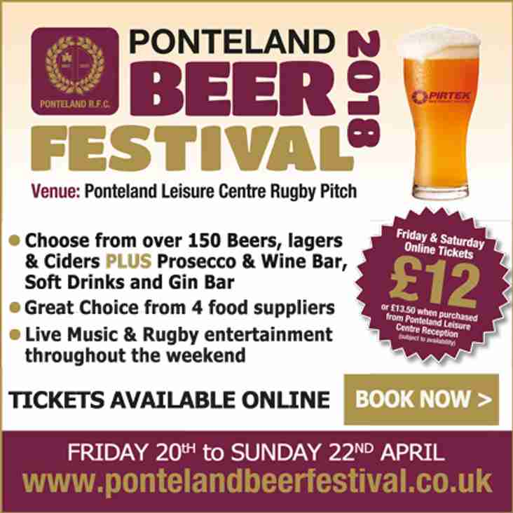 Tickets now available for Ponteland Beer Festival 2018