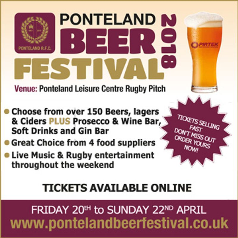 Have you got your Tickets yet for Ponteland Beer Festival?