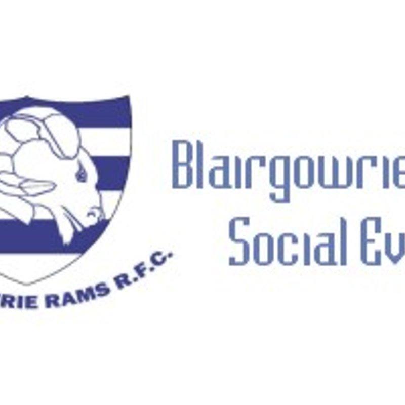 Blairgowrie Rams Social Event - 2pm Sat 21 Oct 17