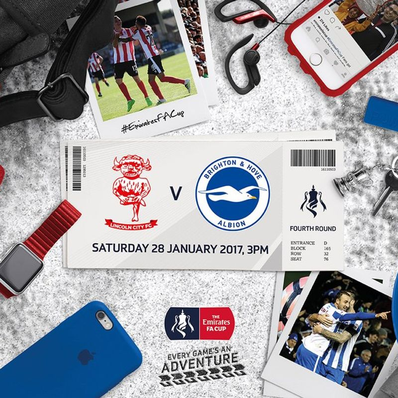 Final Academy Ticket Details for Brighton FA Cup Tie