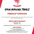 Open Trials - Thursday October 25th